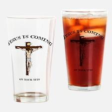 jesustitsLITE Drinking Glass