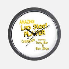 funny lap steel guitar Wall Clock