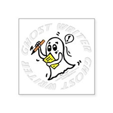 "Ghost-Writer WHITE- Square Sticker 3"" x 3"""