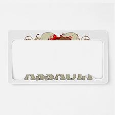 fistSkulls_14t License Plate Holder
