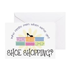 shoeshopping Greeting Card