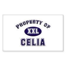 Property of celia Rectangle Bumper Stickers