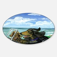 Runaway Doxies in a TR-3 Sticker (Oval)