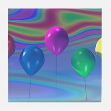 Party Balloons Tile Coaster