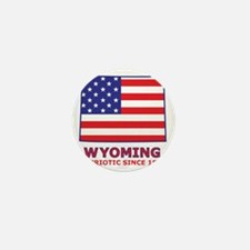 wyoming_state_flag_map2 Mini Button