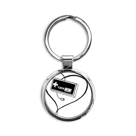 love gaming Round Keychain