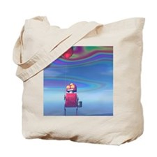 Little Red Birthday Robot 2 Tote Bag