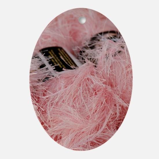 pinkYarn_5X8 Oval Ornament