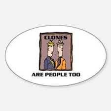 CLONES Oval Decal