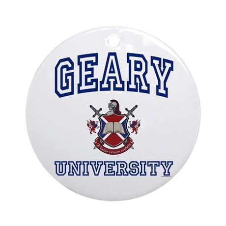 GEARY University Ornament (Round)