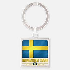 Sweden (Flag 10) Square Keychain