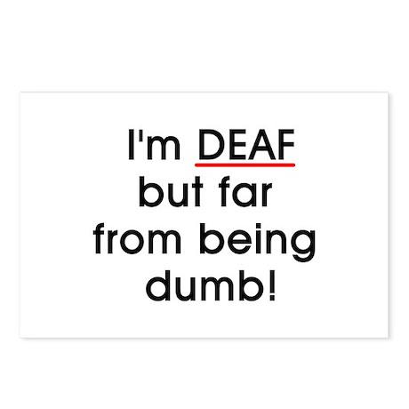 Deaf, Not Dumb! Postcards (Package of 8)