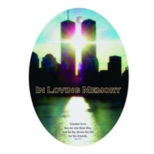 TWIN TOWERS POSTER FOR ALEX 7 1 2011 Oval Ornament