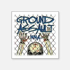 "fence_1f_13t Square Sticker 3"" x 3"""
