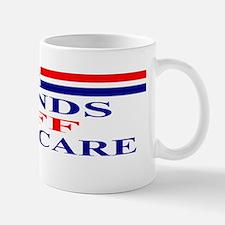 Hands OFF Medicare rwb Bumper Sticker Mug