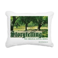 storytelling the orig so Rectangular Canvas Pillow