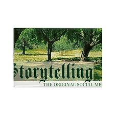 storytelling the orig soc media Rectangle Magnet
