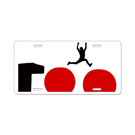 wipeout-red-balls Aluminum License Plate