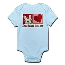 some bunny loves me Infant Bodysuit
