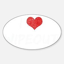 i-love-wipeout-vint Sticker (Oval)