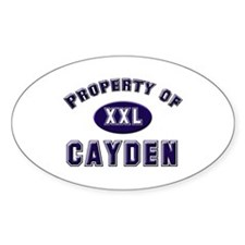 Property of cayden Oval Decal