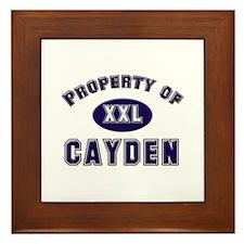 Property of cayden Framed Tile