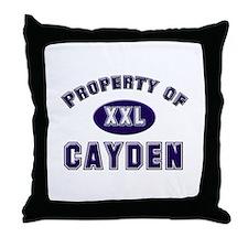 Property of cayden Throw Pillow