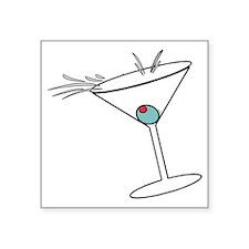 """Martini-2 Square Sticker 3"""" x 3"""""""