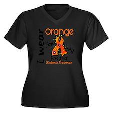 DONE2 Women's Plus Size Dark V-Neck T-Shirt