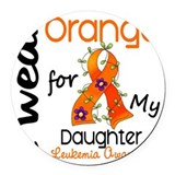 Leukemia cancer awareness Round Car Magnets