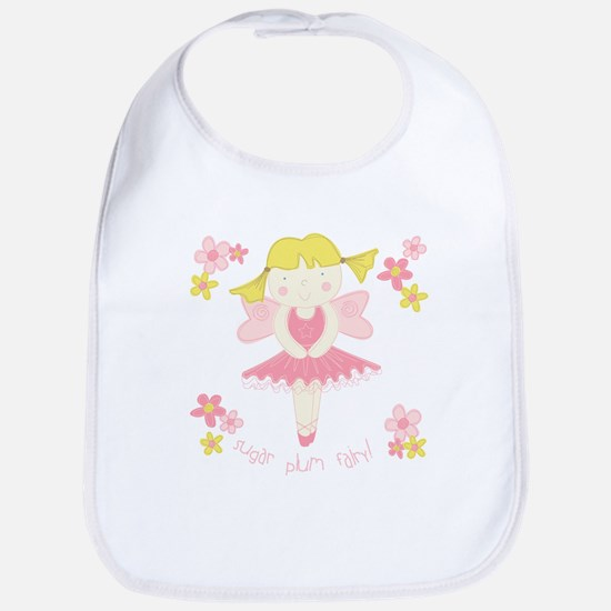 Sugar Plum Fairy Flower Bib