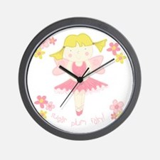 Sugar Plum Fairy Flower Wall Clock