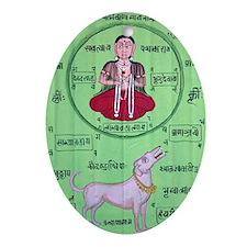 yoga-2 Oval Ornament