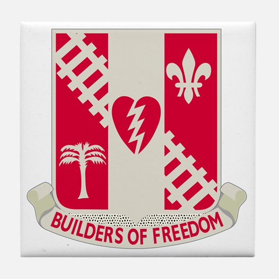 44th Army Engineer Battalion Tile Coaster