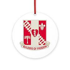 44th Army Engineer Battalion Round Ornament