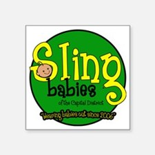 """Wearing_Babies_Out_Since_20 Square Sticker 3"""" x 3"""""""