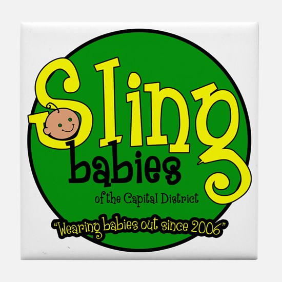 Wearing_Babies_Out_Since_2006 copy Tile Coaster