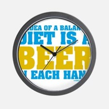 My Idea Of A Balanced Diet Is A Beer Wall Clock