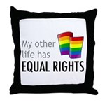 My Other Life Rainbow Throw Pillow