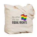 My Other Life Rainbow Tote Bag