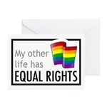 My Other Life Rainbow Greeting Cards (Pk of 10)