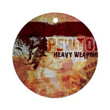 pewtonpad copy Round Ornament