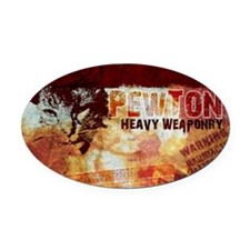 pewtonpad copy Oval Car Magnet
