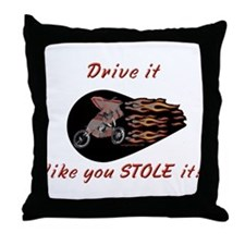 Cute Drive it like you stole it Throw Pillow