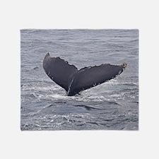 whale-fluke Throw Blanket