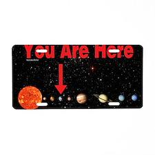 SpaceMap_Skin1 Aluminum License Plate