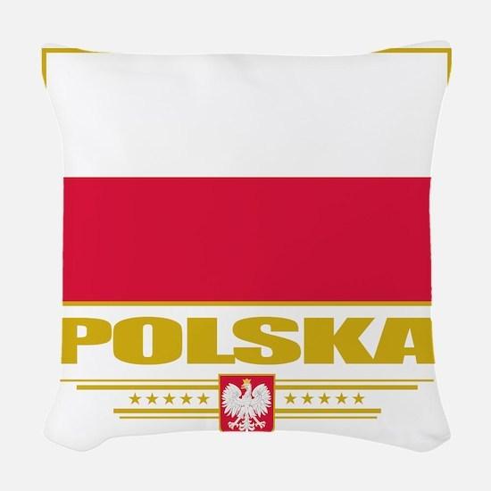 Poland (Flag 10) Woven Throw Pillow