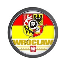 Wroclaw (Flag 10) Wall Clock