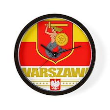 Warsaw (Flag 10) Wall Clock