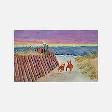beach set print_edited-1 3'x5' Area Rug